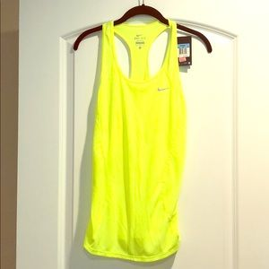 NWT Nike yellow Dri-fit racer back  top Sz M